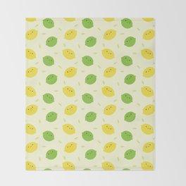 Kawaii Lemons & Limes Throw Blanket