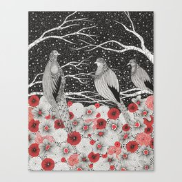 Three Birds Canvas Print
