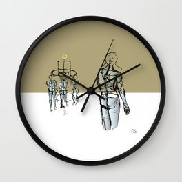 Glass people Wall Clock