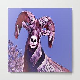 The Mountain Ram Metal Print