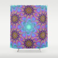 meditation Shower Curtains featuring Meditation by David Zydd