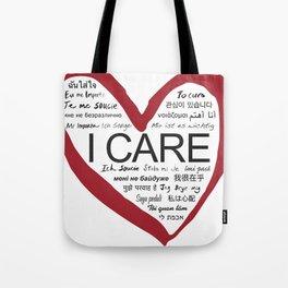 I CARE Tote Bag