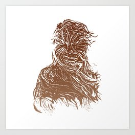 StarWars Chewbacca Art Print