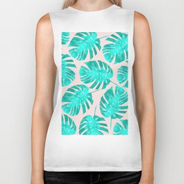 Composition tropical leaves XIII Biker Tank