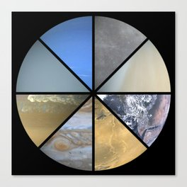 The Solar System Canvas Print