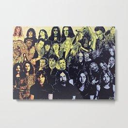 Rock Triptych Panel C Metal Print
