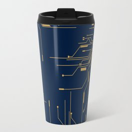Gold Broken IC Travel Mug