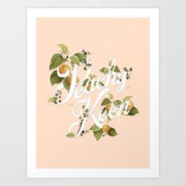 Peachy Keen : Peach Art Print
