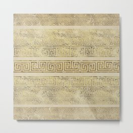 Greek Meander Pattern - Greek Key Ornament Metal Print