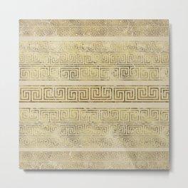 Greek Meander Pattern - Greek Key Ornament Metal Print