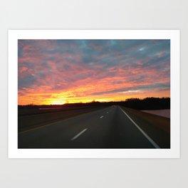 December Sunrise Art Print