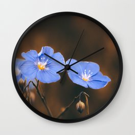 Flower Photography by Mack Fox (MusicFox) Wall Clock