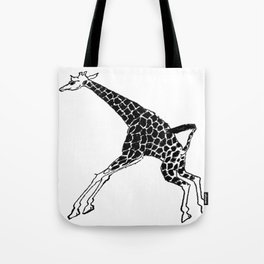 Giraffe Pen and Ink Drawing by Lorloves Design Tote Bag
