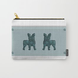 Patches French Bulldog Twins Carry-All Pouch