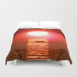 Sailboat Holds the Sun Duvet Cover