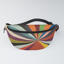 stripes rays geometric retro Fanny Pack