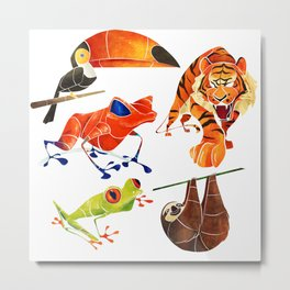 Rainforest animals 2 Metal Print