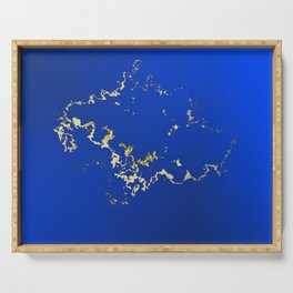 Golden Abstract Cloud Serving Tray