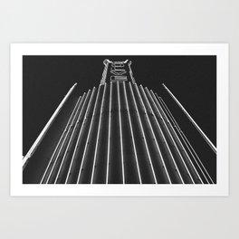 Culver Spire - Kirk Douglas Theatre Neon Sign - Culver City, CA Art Print