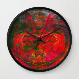 Chaos Face- Glowing Ember Wall Clock