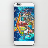 pee wee iPhone & iPod Skins featuring Pee-wee's Christmas Nativity  by bzuraw