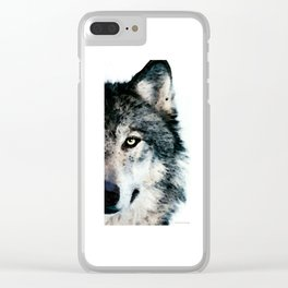 Wolf Art - Timber by Sharon Cummings Clear iPhone Case