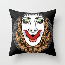 Medusa Two - Dark Throw Pillow
