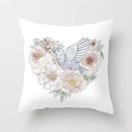 bird of paradise , paradisebirds , simple floral graphic design , gift for gardener Throw Pillow
