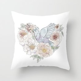 bird of paradise , paradisebirds , simple floral graphic design , gift for gardener Throw Pillow