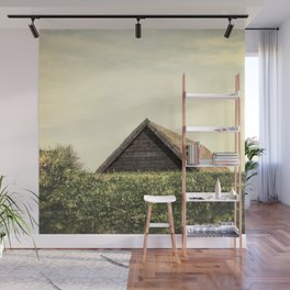 Magical Tiny House Iceland Wall Mural