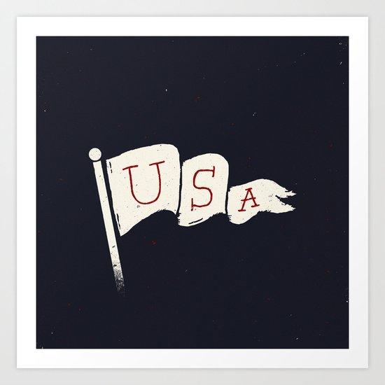 USA Pride Art Print
