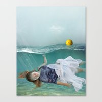 mermaid Canvas Prints featuring Mermaid  by Mary Kilbreath