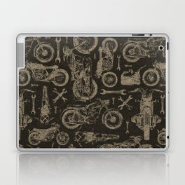 Dark Vintage Motorcycle Pattern Laptop & iPad Skin