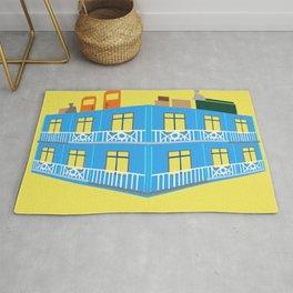 blue house Rug