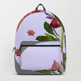 GREY ORNATE VINTAGE  ROSES DESIGN Backpack