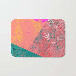 Neon Abstract Marble Hashes Bath Mat