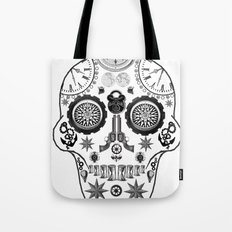 Steampunk Sugar Skull Tote Bag