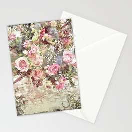 Shabby Chic Rococo Roses Stationery Cards