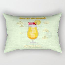 Sex on The Beach - Cocktails by Juan Rectangular Pillow