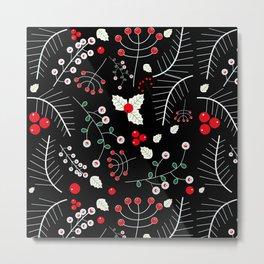 mistletoe black Metal Print