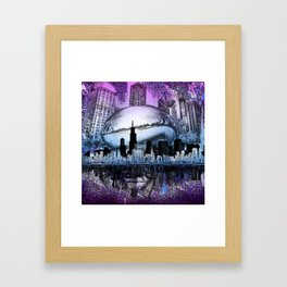 chicago city skyline Framed Art Print