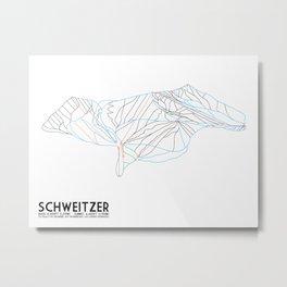 Schweitzer, ID - Minimalist Trail Art Metal Print