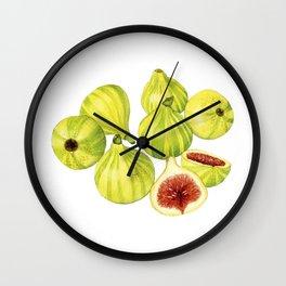 Candy Stripe Figs Wall Clock