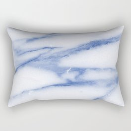 Blue Skies Marble Rectangular Pillow