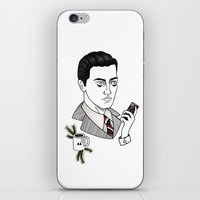 dale cooper iPhone & iPod Skins featuring dale cooper II by Bunny Miele