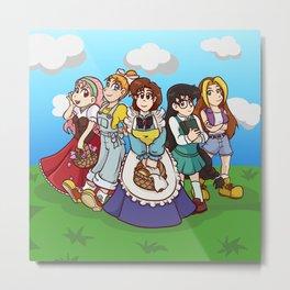 Harvest Moon 64 Bachelorettes! Metal Print