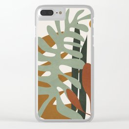 Abstract Plant Life III Clear iPhone Case
