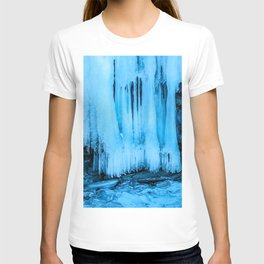 Ice curtain of the lake Baikal T-shirt