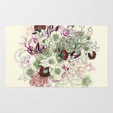 Zentangle Floral mix II Rug