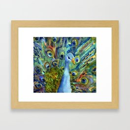 All About The Peacock Framed Art Print
